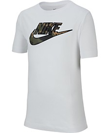 Nike Big Boys Logo Cotton T-Shirt