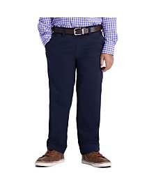 Haggar Boys Sustainable Chino, Reg Fit, Flat Front Pant Size 4 - 7