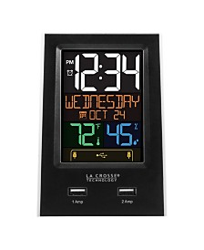 La Crosse Technology Desktop Dual USB Charging Station with Alarm and Nap timer