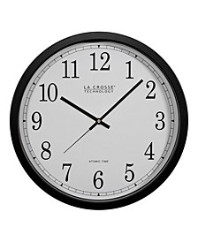 """14"""" Black Atomic Analog Wall Clock"""