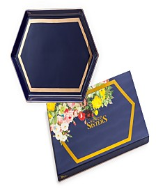 Seven Sisters Large Hexagon Navy Tray