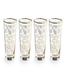 Cheers Pint Glass Set of 4