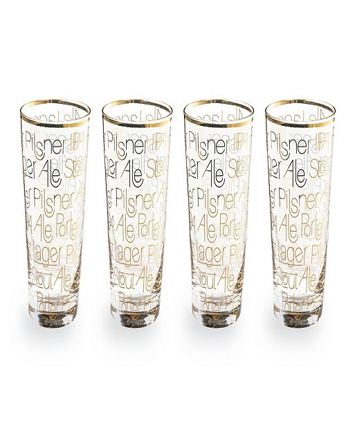 Rosanna Imports Cheers Pint Glass Set of 4