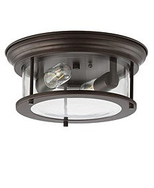 "Lauren 13.25"" Metal/Glass LED Flush Mount"