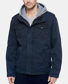 Men's Two Pocket Hooded Trucker Jacket