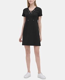 Calvin Klein Lace-Up Dress