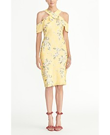 RACHEL Rachel Roy Off-the-Shoulder Printed Lace Dress