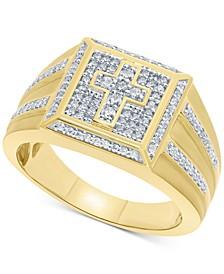 Men's Diamond Cross Ring (1/2 ct. t.w.) in 10k Gold