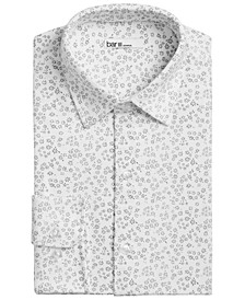 Men's Slim-Fit Stretch Floral-Print Knit Dress Shirt, Created for Macys