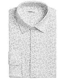 Bar III Men's Slim-Fit Stretch Floral-Print Knit Dress Shirt, Created for Macys
