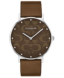 Women's Perry Bronze Leather Strap Watch 36mm, Created For Macy's