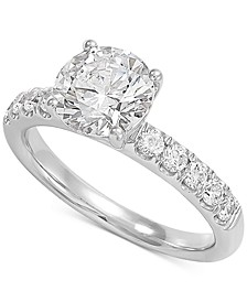 Lab Grown Diamond Engagement Ring (2-1/2 ct. t.w.) in 14k White Gold