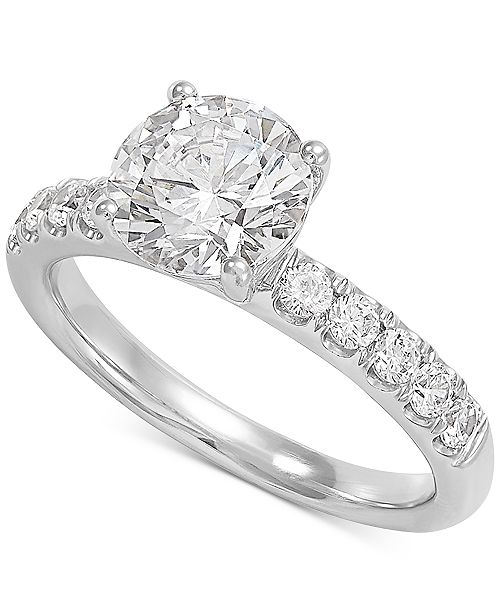 Grown With Love Lab Grown Diamond Engagement Ring (2-1/2 ct. t.w.) in 14k White Gold