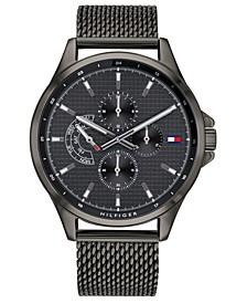 Men's Gunmetal Stainless Steel Mesh Bracelet Watch 44mm, Created for Macy's