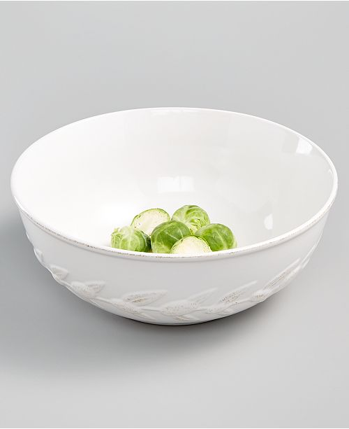Martha Stewart Collection CLOSEOUT! La Dolce Vita Olive Whiteware Vegetable Bowl, Created for Macy's