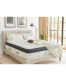 "Brentwood Home Oceano 14"" Gel Memory Foam Medium Eurotop Hybrid Mattress - Twin XL"