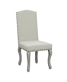 AC Pacific Nancy Victorian Nail Head Dining Chair, Set of 2