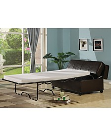 AC Pacific Fold Out Ottoman Sleeper Bed with Mattress