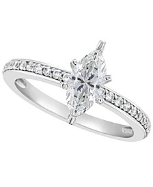 Certified Marquise Diamond Engagement Ring (1 ct. t.w.) in Platinum