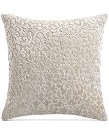 Hotel Collection Classic Flourish Floral Damask Velvet European Sham, Created for Macy's