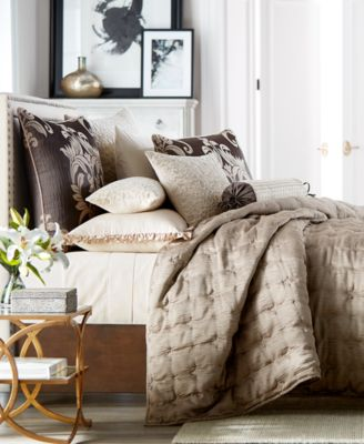 Classic Flourish Embroidered Full/Queen Coverlet, Created for Macy's