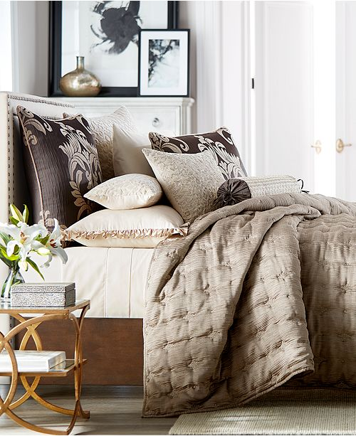Hotel Collection Classic Flourish Embroidered Full/Queen Coverlet, Created for Macy's