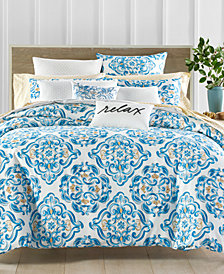 CLOSEOUT! Charter Club Damask Designs Dolce Vita 300-Thread Count 3-Pc. Medallion-Print Full/Queen Comforter Set, Created for Macy's