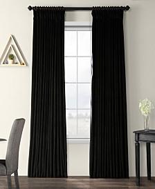 "Exclusive Fabrics & Furnishings Signature Extra Wide Blackout Velvet 100"" x 96"" Curtain Panel"