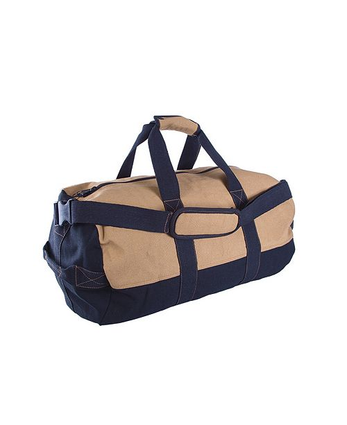 """Stansport Duffle Bag With Zipper - 2 Tone - 14""""X 24"""""""