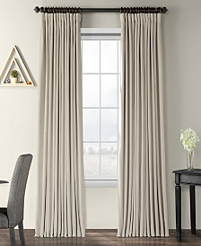 "Exclusive Fabrics & Furnishings Signature Extra Wide Blackout Velvet 100"" x 96"" Curtain Panel"