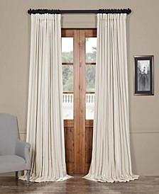 "Blackout Extra Wide Vintage Textured 100"" x 84"" Curtain Panel"