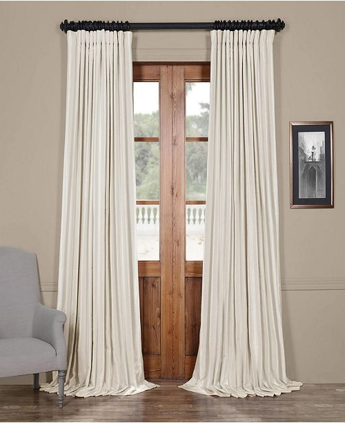 Blackout Extra Wide Vintage Textured 100 X 84 Curtain Panel