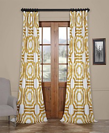 "Exclusive Fabrics & Furnishings Mecca Printed Cotton 50"" x 96"" Curtain Panel"