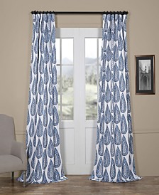 "Exclusive Fabrics & Furnishings Medallion Blackout 50"" x 108"" Curtain Panel"