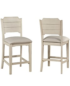 Clarion Non-Swivel Open Back Counter Height Stool