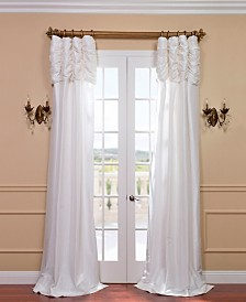 "Exclusive Fabrics & Furnishings Ruched Taffeta 50"" x 96"" Curtain Panel"