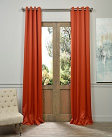 "Exclusive Fabrics & Furnishings Grommet Blackout 50"" x 84"" Curtain Panel"