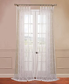 "Florentina Embroidered Sheer 50"" x 108"" Curtain Panel"