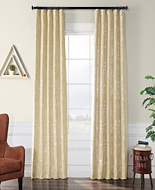 "Exclusive Fabrics & Furnishings Gwendolyn Flocked 50"" x 96"" Curtain Panel"