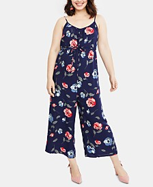 Motherhood Maternity Cropped Wide-Leg Jumpsuit