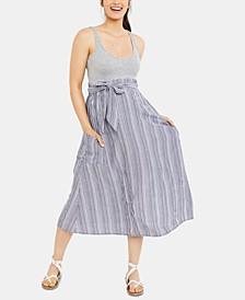 Maternity Pull-On Midi Skirt
