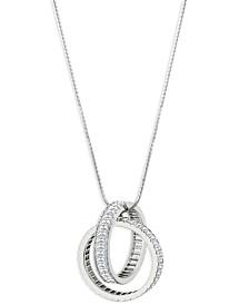 ZAXIE Baguette Circle Pendant Necklace