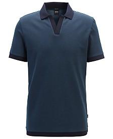 BOSS Men's Pye 04 Cotton Jacquard Polo Shirt