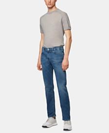 BOSS Men's Maine3 Regular-Fit Italian Stretch Denim Jeans