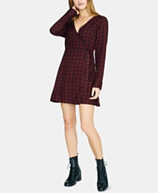 Sanctuary Plaid Wrap Dress