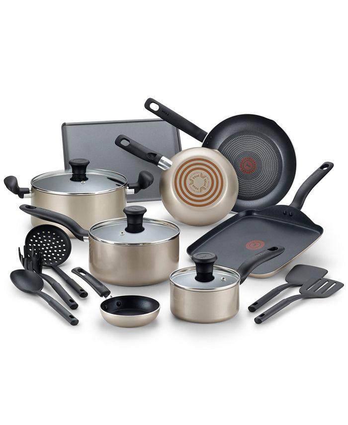 T-Fal - Culinaire 16-Pc. Nonstick Aluminum Cookware Set