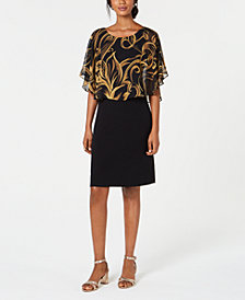 Connected Printed Popover A-Line Dress