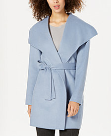 Tahari Wing-Collar Wrap Coat