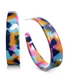 I.N.C. Multicolor Resin Hoop Earrings, Created for Macy's