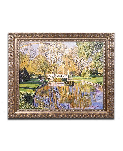 """Trademark Global David Lloyd Glover 'Reflections of the White Bridge' Ornate Framed Art - 16"""" x 20"""""""